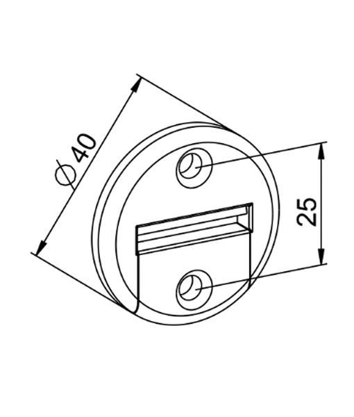 Gurtführung mit Bürste 2-Teilig rund Zeichnung