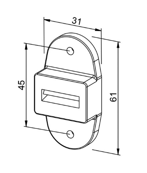 Gurtführung mit Bürstendichtung Rolladen MAXI-System (hoch) Zeichnung