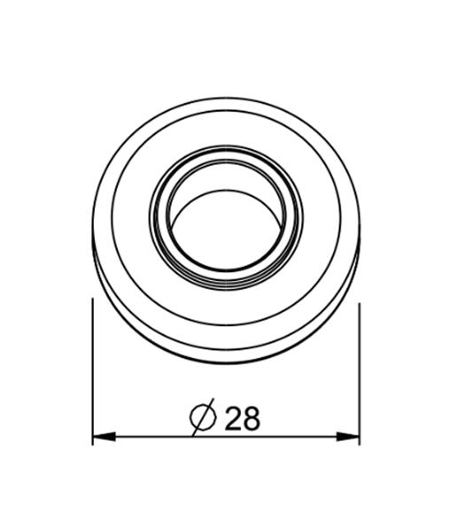 Kugellager 28mm technische Zeichnung