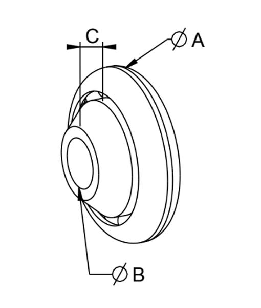 Kugellager 40mm technische Zeichnung