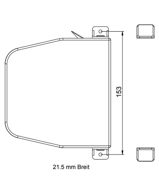 MINI-Gurtwickler schwenkbar 14mm Gurtbreite mit Gurt Zeichnung