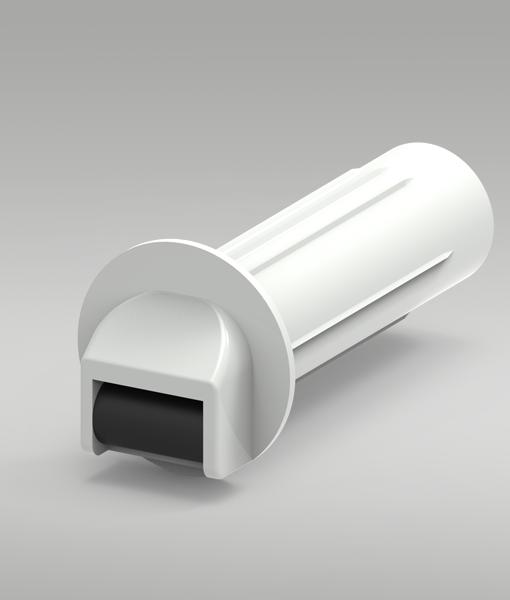 Steckleitrolle mit Schutzrohr für MINI-Gurt 14mm