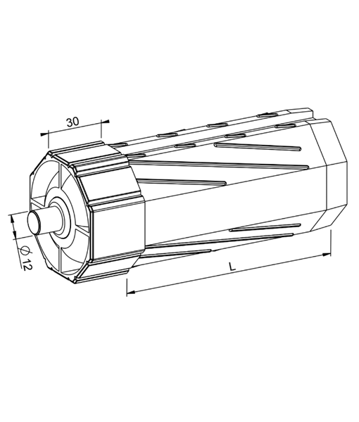 Walzenkapsel Rolladen SW60 mit Stift