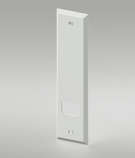 Deckplatte für Einlass-Gurtwickler Lochabstand 134 mm Abdeckung 173 mm