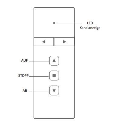 PREMIUM Rolladenfunkhandsender 1-Kanal - Technische Zeichnung