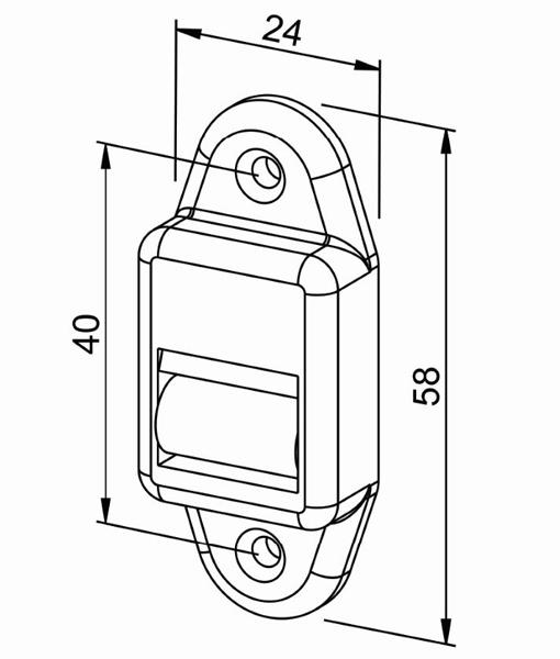 Gurtführung Rollladen - MINI-System (hoch) Zeichnung
