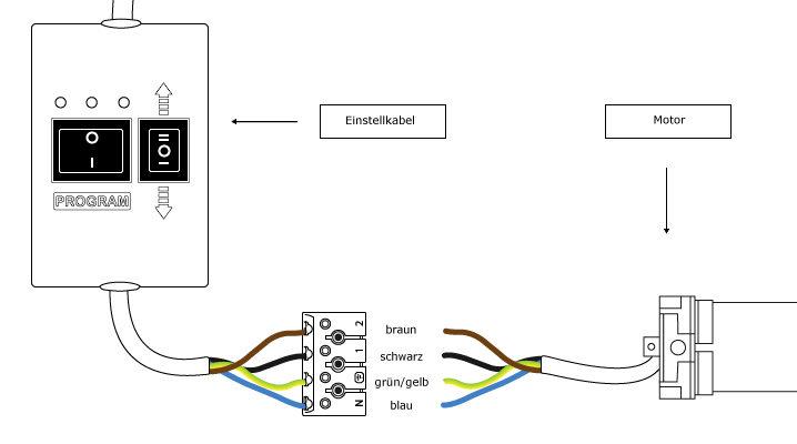 JAROLIFT Einstellkabel - Setzkabel Anschlussplan