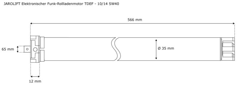 JAROLIFT Funk-Rollladenmotor TDEF 10-14 - max. 27KG Panzergewicht - SW40