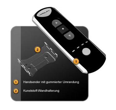 Jarolift Funkhandsender 4-Kanal Lieferumfang