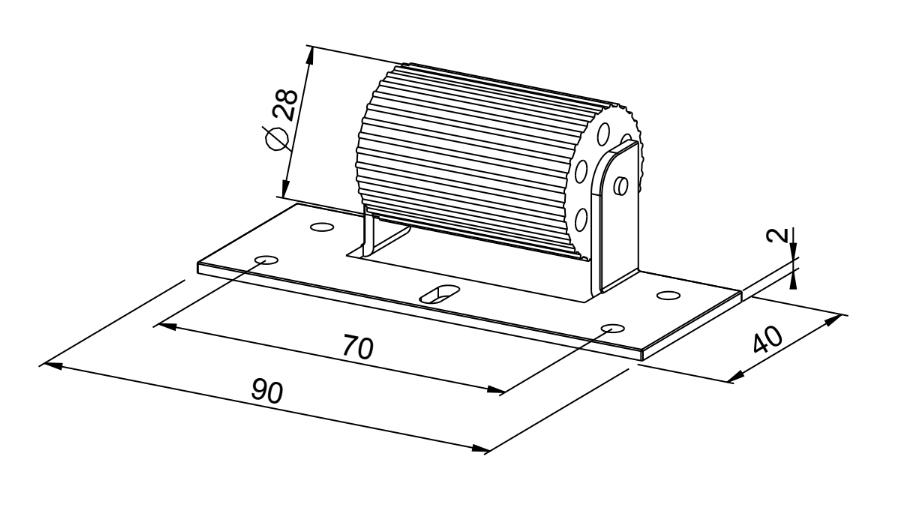 Abdruckrolle MAXI für leisen & leichten Lauf - technische Zeichnung