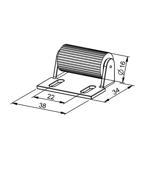Abdruckrolle MINI für leisen & leichten Lauf - Technische Zeichnung