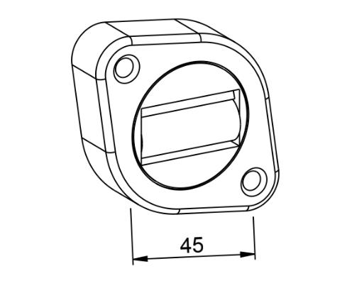 Gurtführung drehbar mit Bürsteneinsatz und Leitrolle - technische Zeichnung