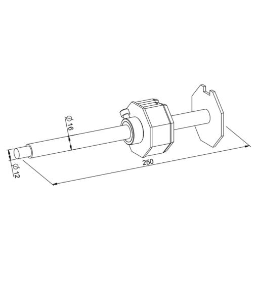 Wellenbolzen verstellbar für SW60 - technische Zeichnung