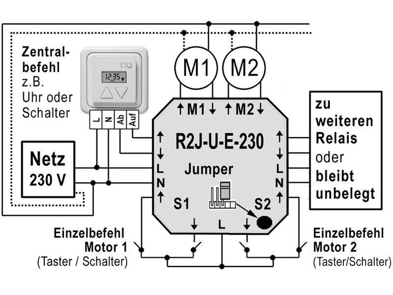 r2j-u-e-230 Elektronisches Steuerrelais - Schaltplan