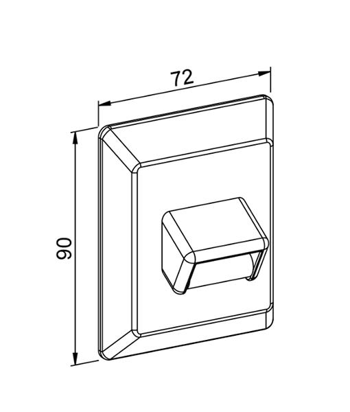 Gurtführung mit Doppelbürste - technische Zeichnung