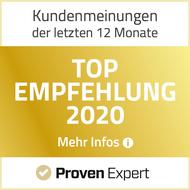Auszeichnung Top Empfehlung Proven Expert
